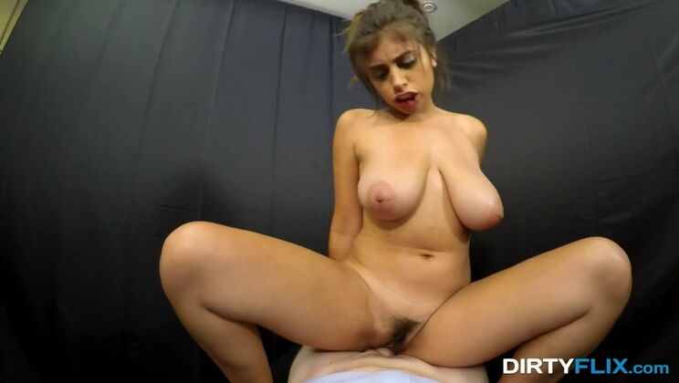 Busty and hairy cutie fuck POV